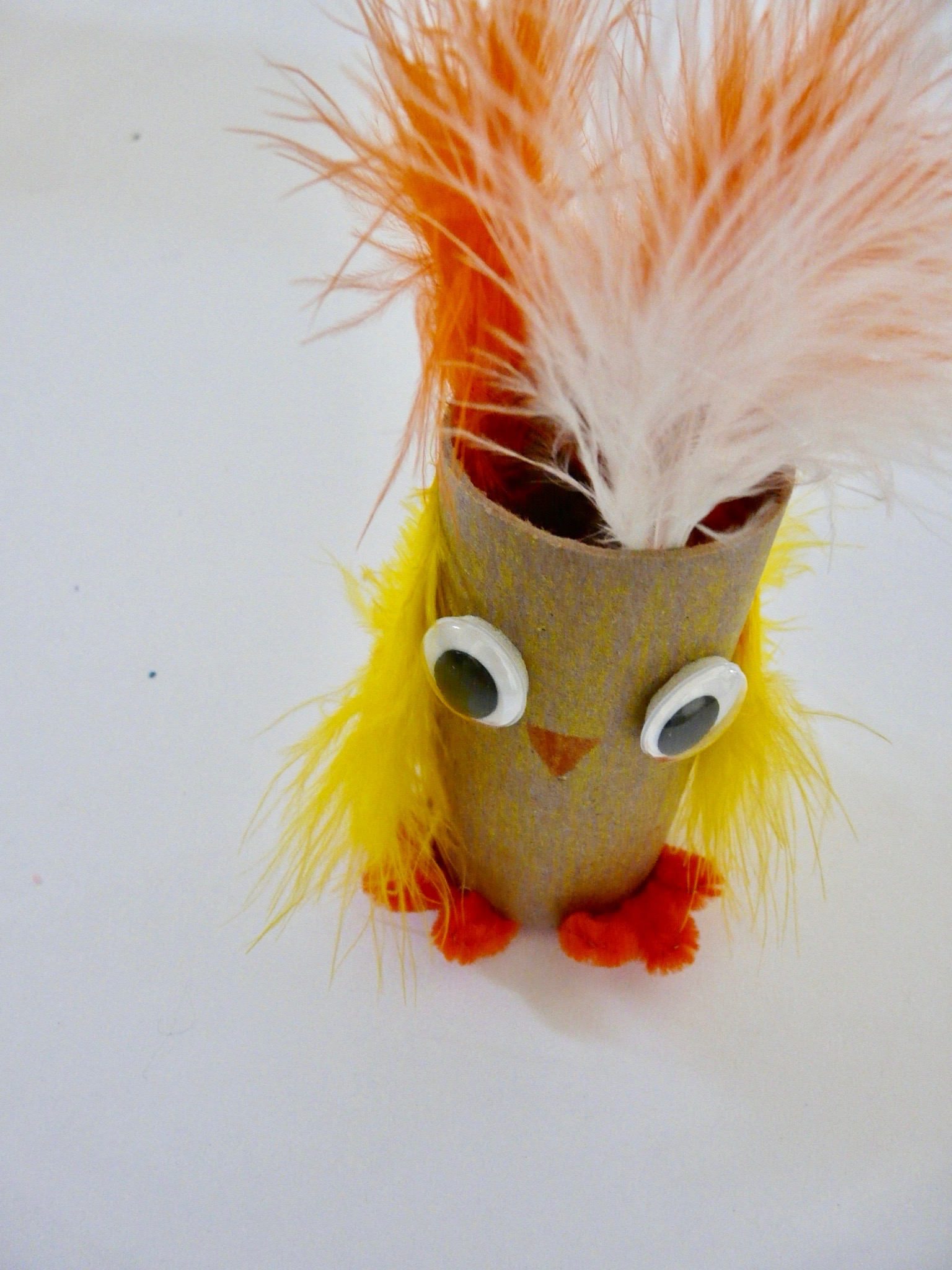 Chick puppet standing up by Haydee Montemayor from Love and Treasure www.loveandtreasure.com blog